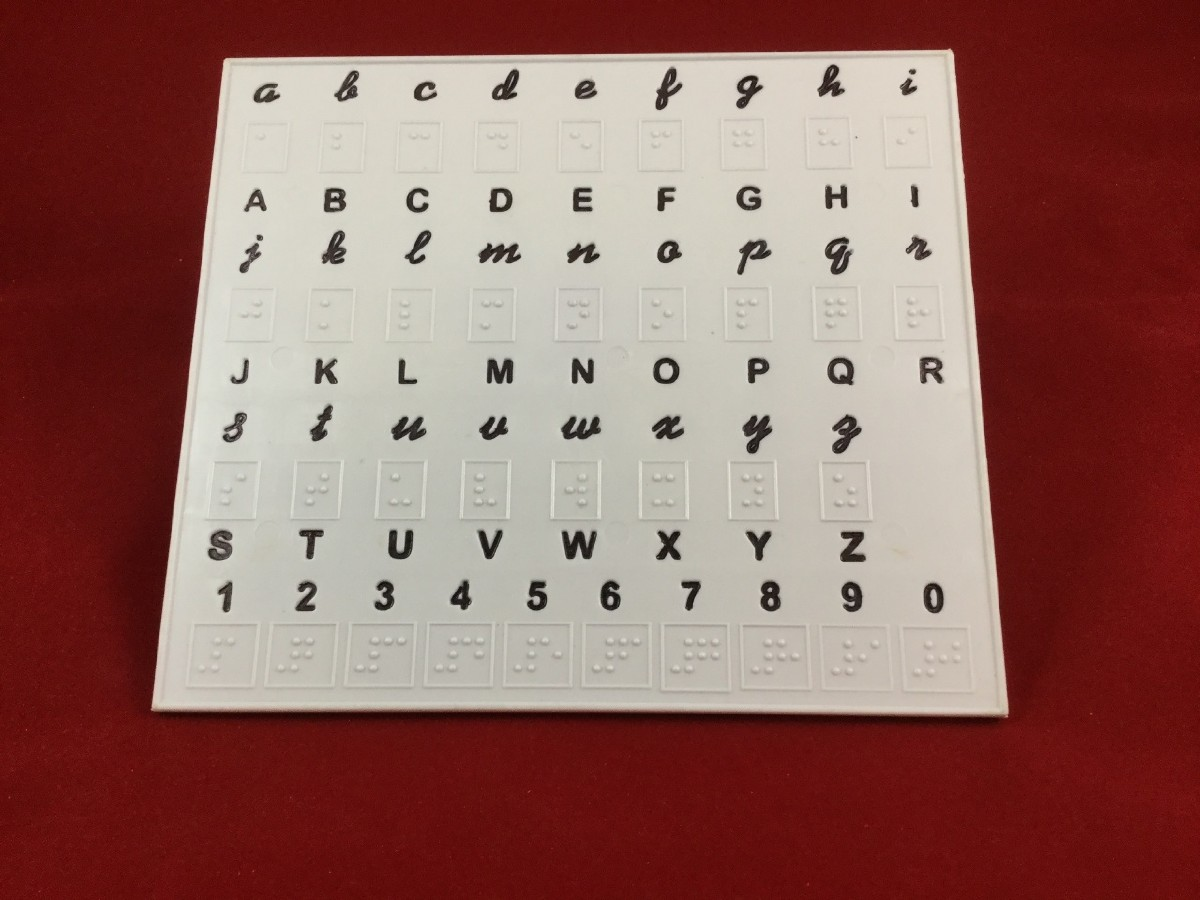 Larger picture of our Braille Alphabet Tray