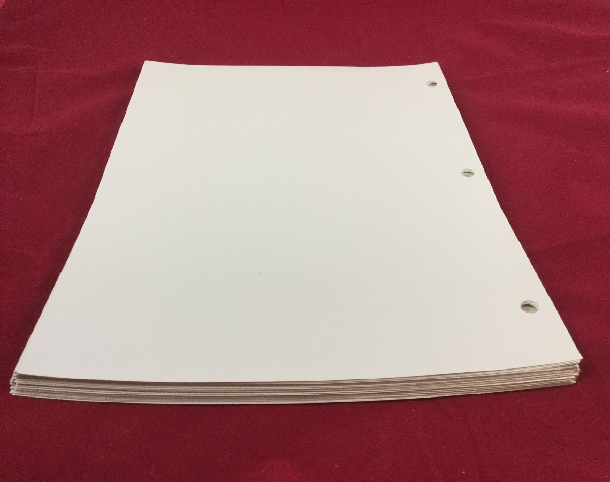 Larger picture of our Braille Plastic, Three-Hole Punched