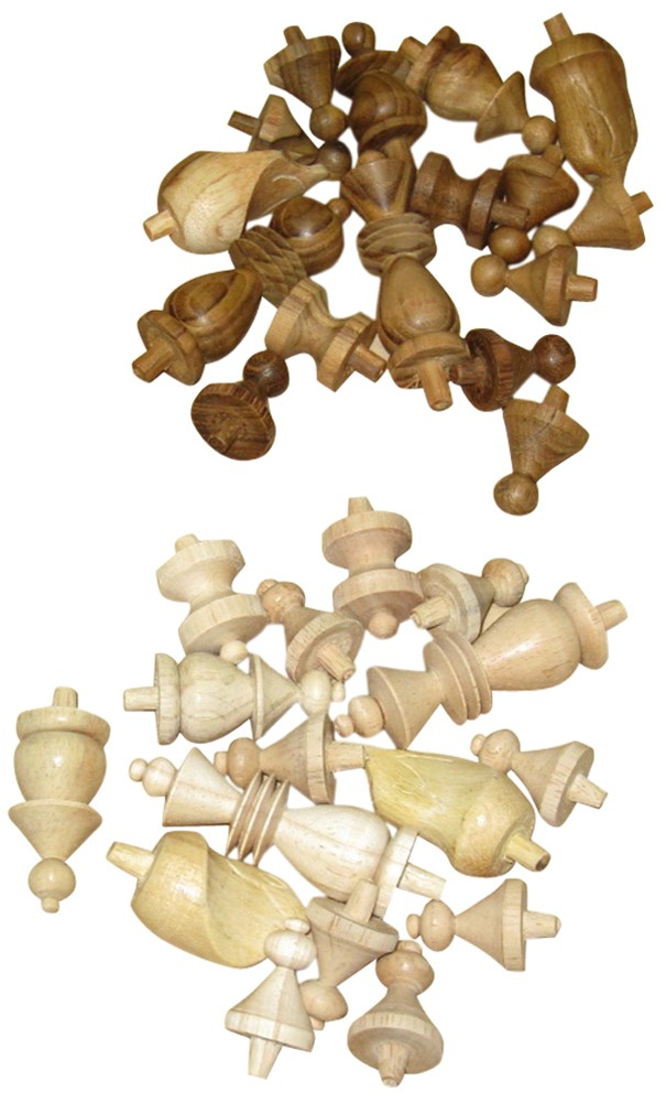 Larger picture of our Replacement Chess Men, Wooden