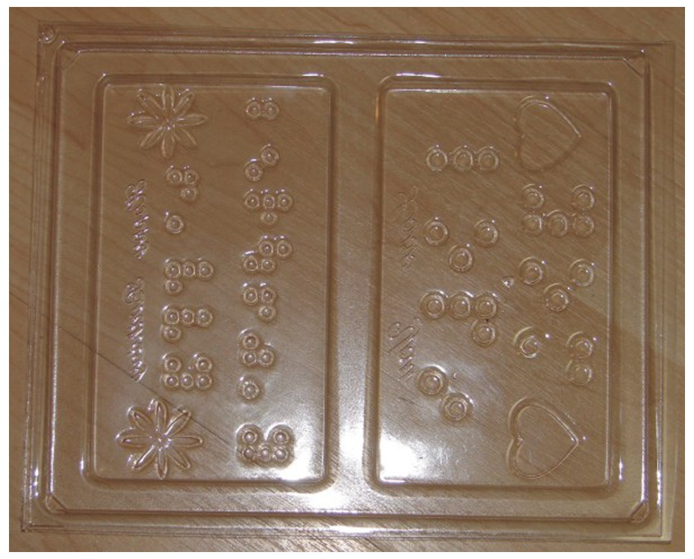 Picture picture of our Braille Chocolate Mold