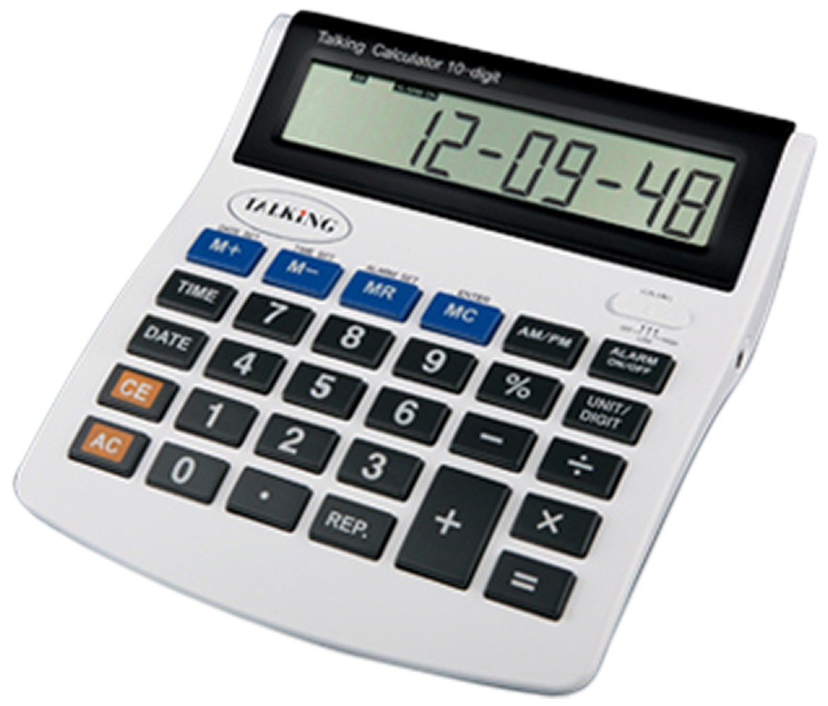 Larger picture of our Deluxe Talking Calculator