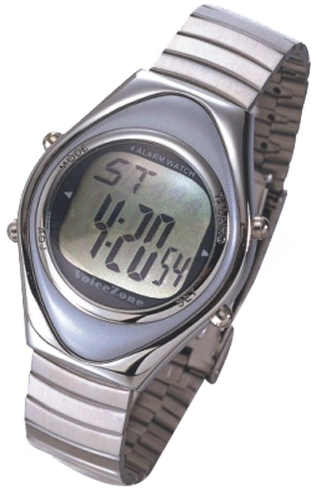 Deluxe Mens Talking Watch for the Blind w/ Braille Ins