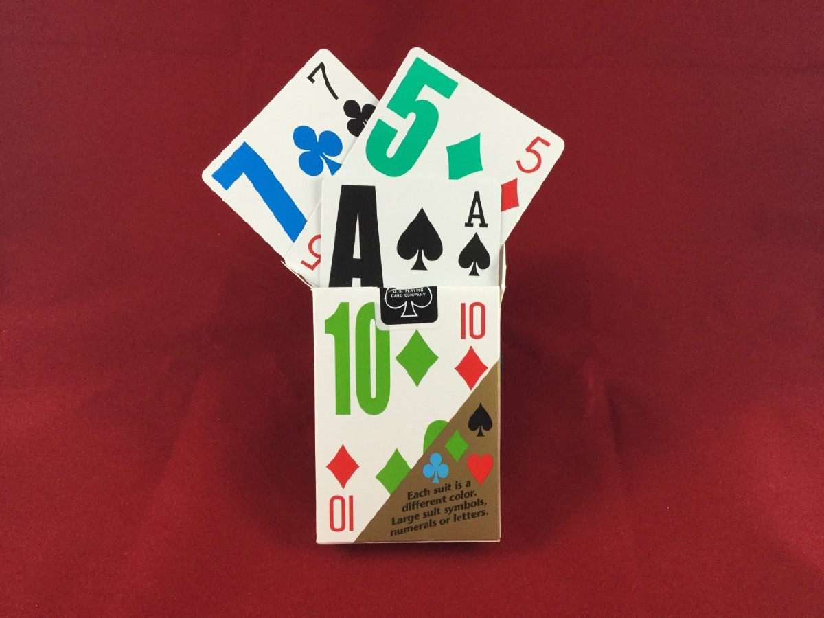 Picture picture of our E-Z See Playing Cards