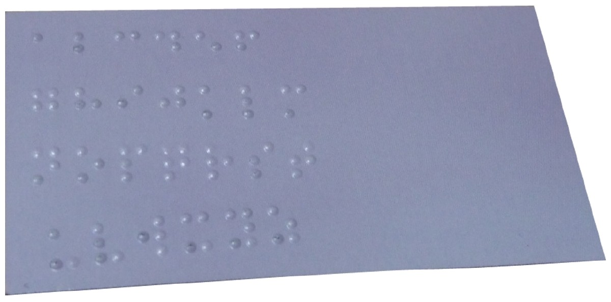 Picture picture of our Braille Number Magnet, Ten-Count