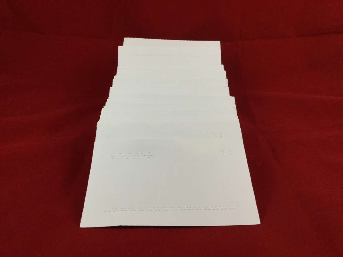 Larger picture of our Grade 2 Braille Flash Cards