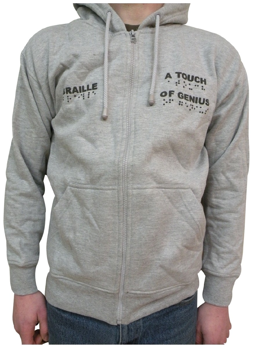Picture picture of our Braille Hoodie, Adult