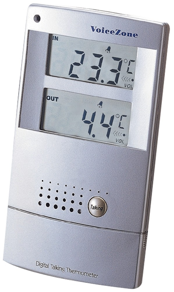 Picture picture of our Talking Indoor-Outdoor Thermometer