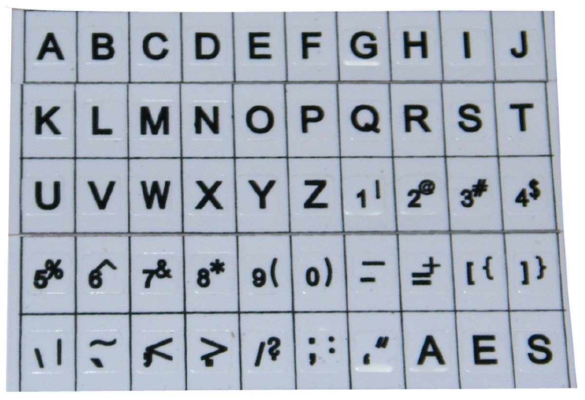 Larger picture of our Large Print Keyboard Stickers