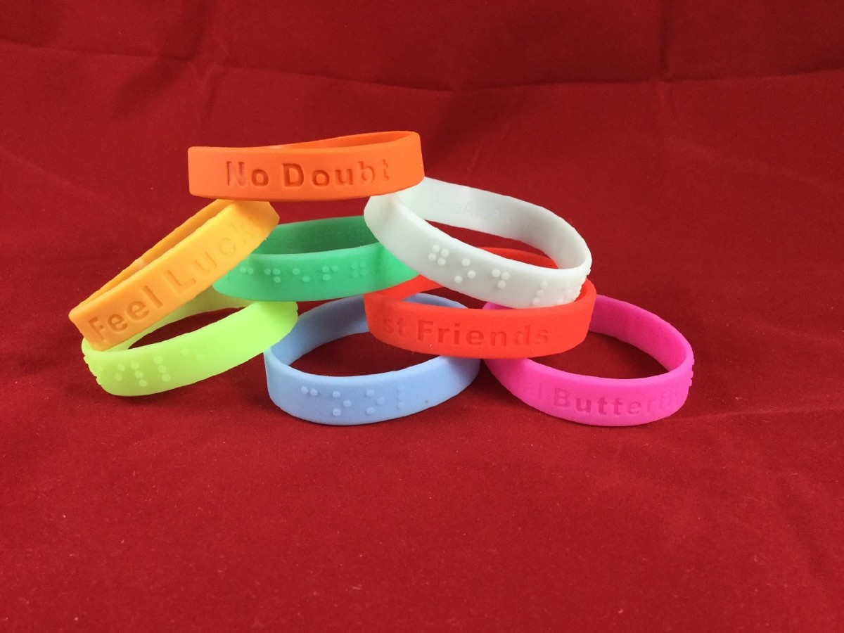 Picture picture of our Kids Braille Wristband