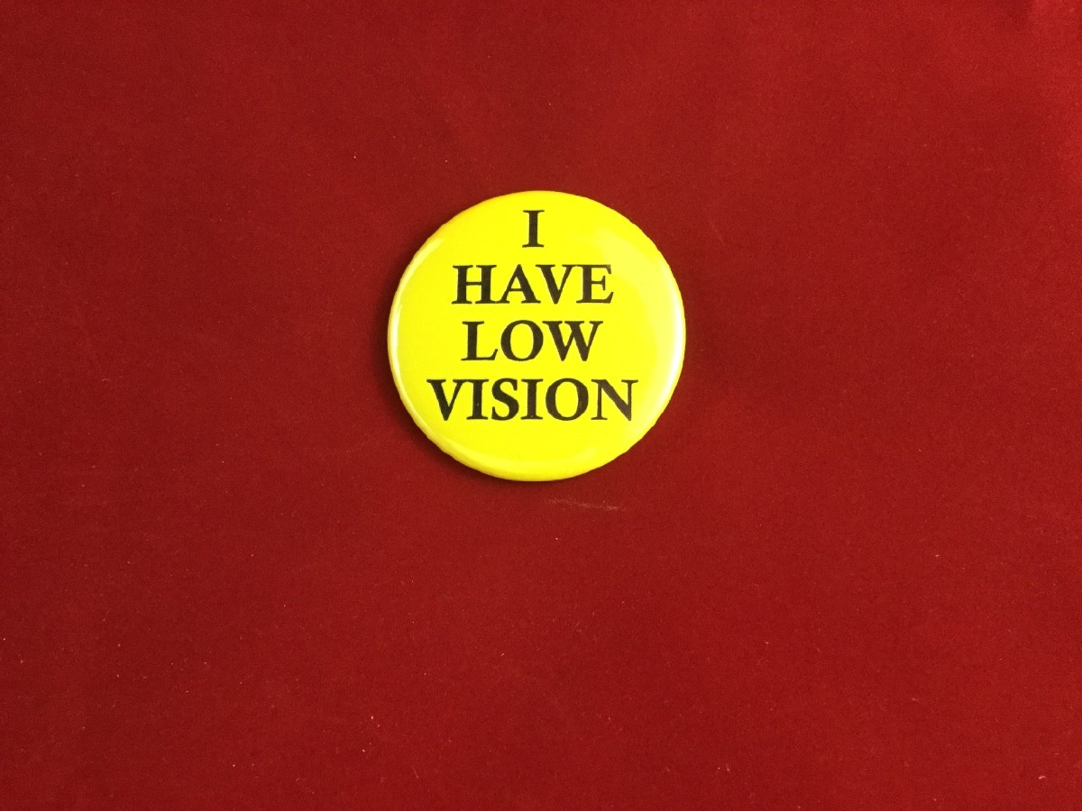 Picture picture of our Low Vision Button