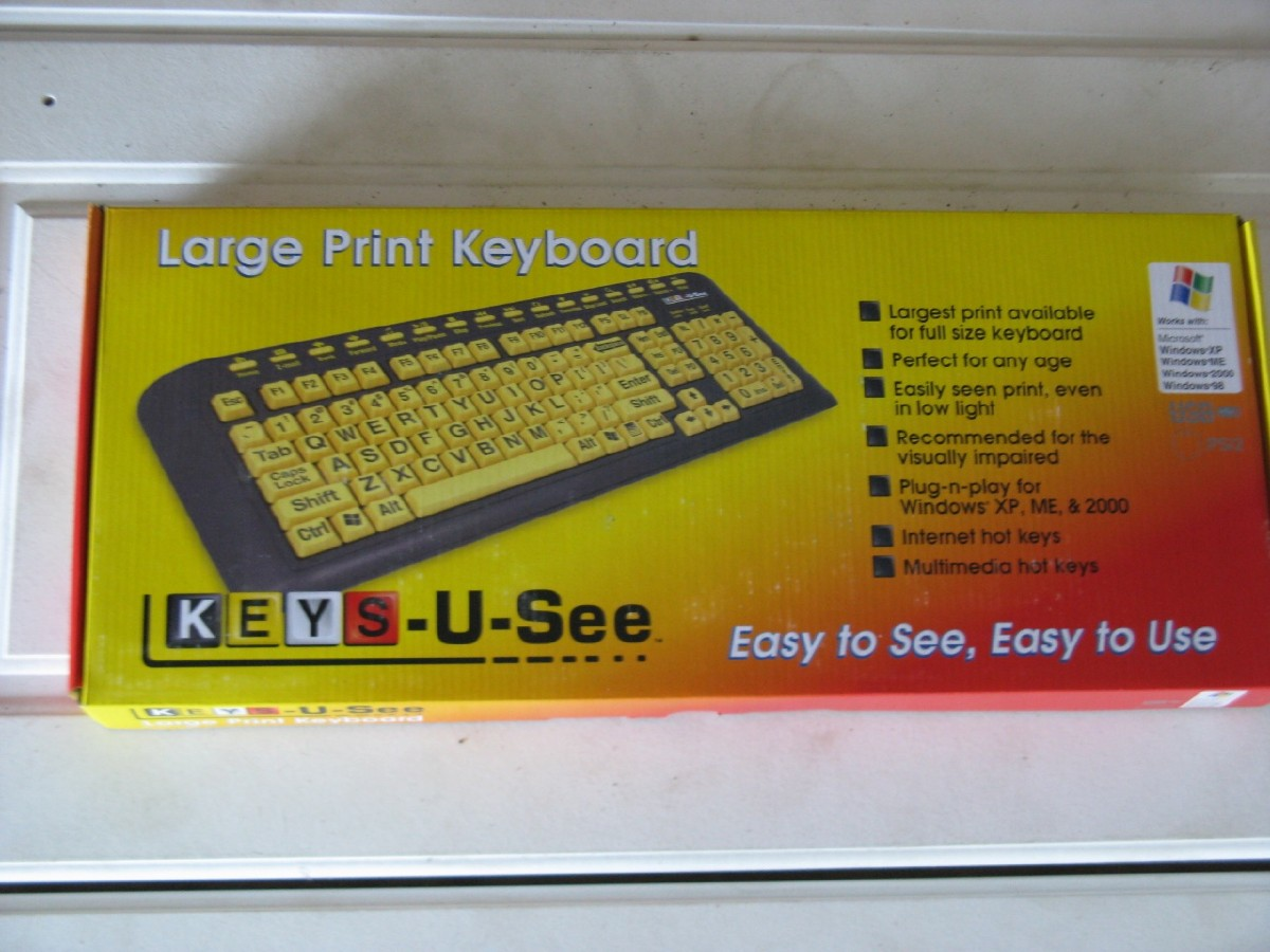 Larger picture of our Large Print Keyboard