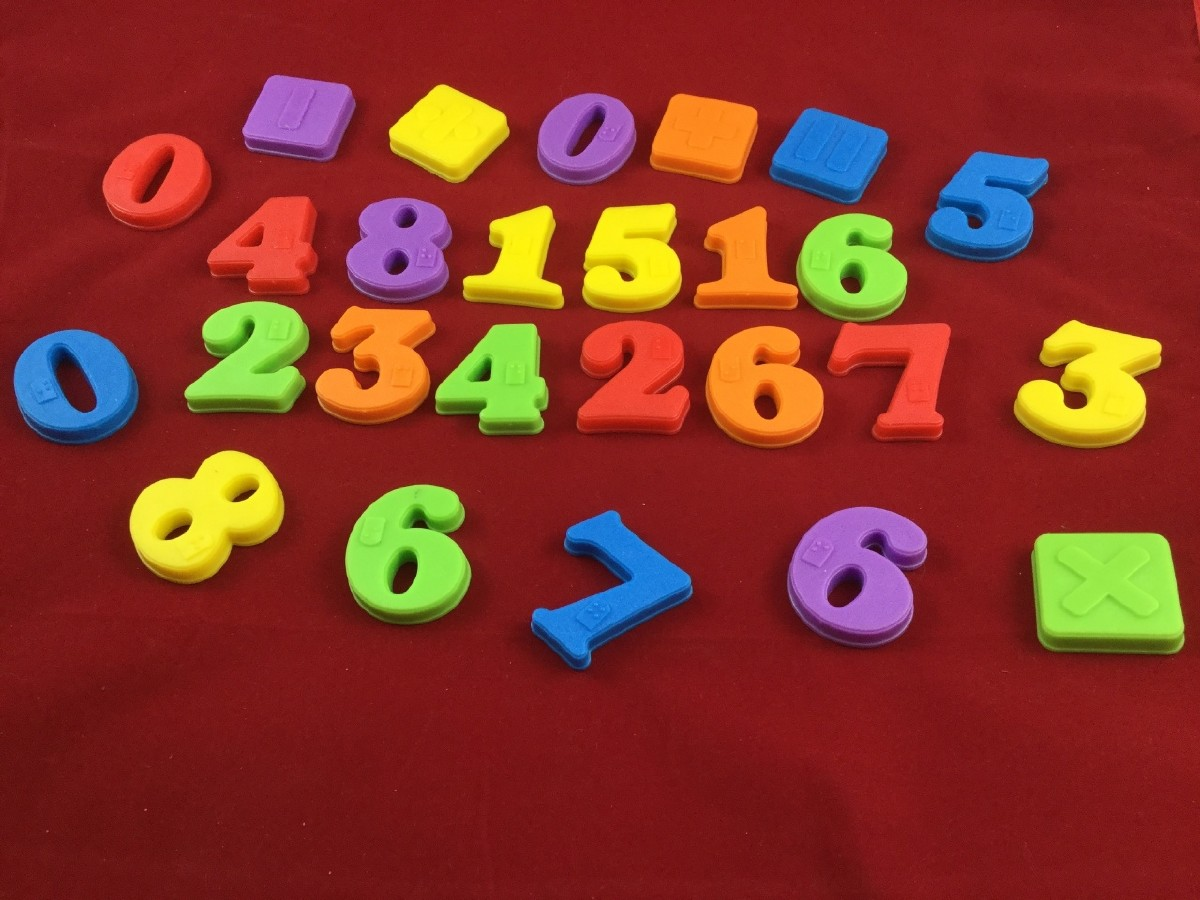 Picture picture of our Braille Magnetic Numbers