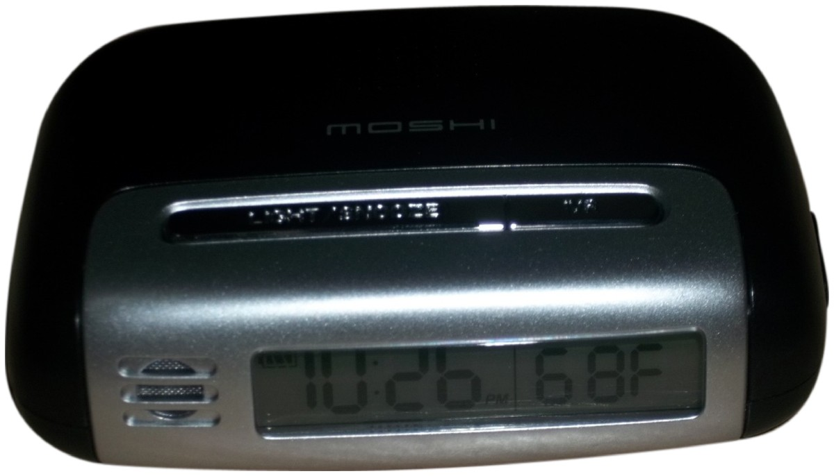 Picture picture of our Moshi Voice-Controlled Talking Travel Clock