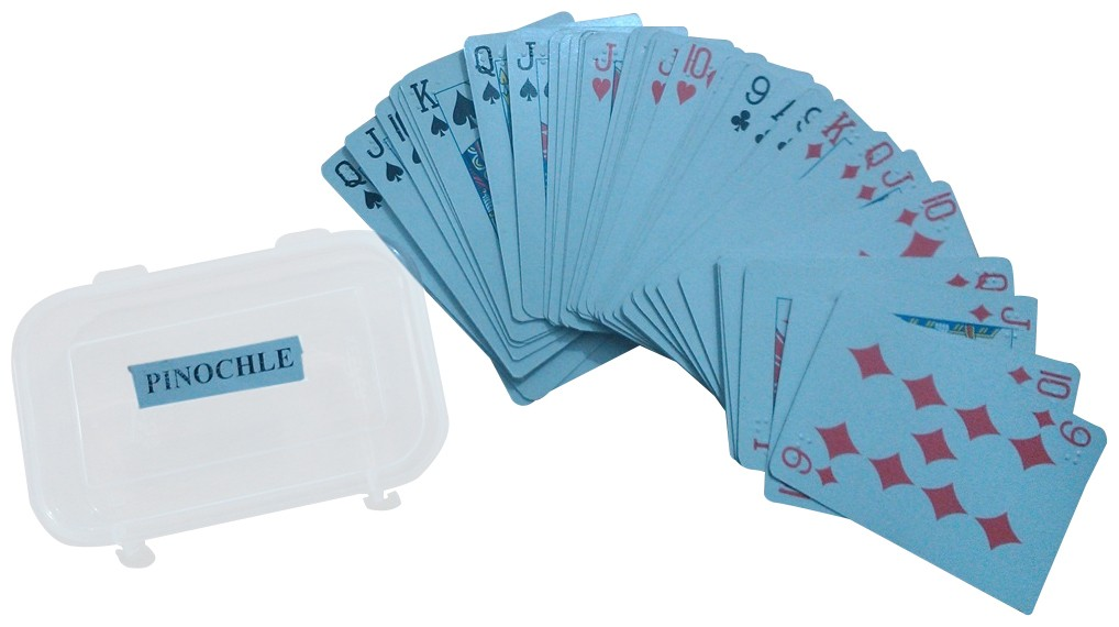 Larger picture of our Braille Pinochle Cards