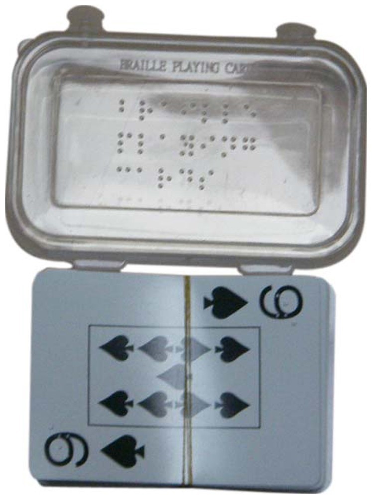 Larger picture of our Braille Playing Cards, Plastic