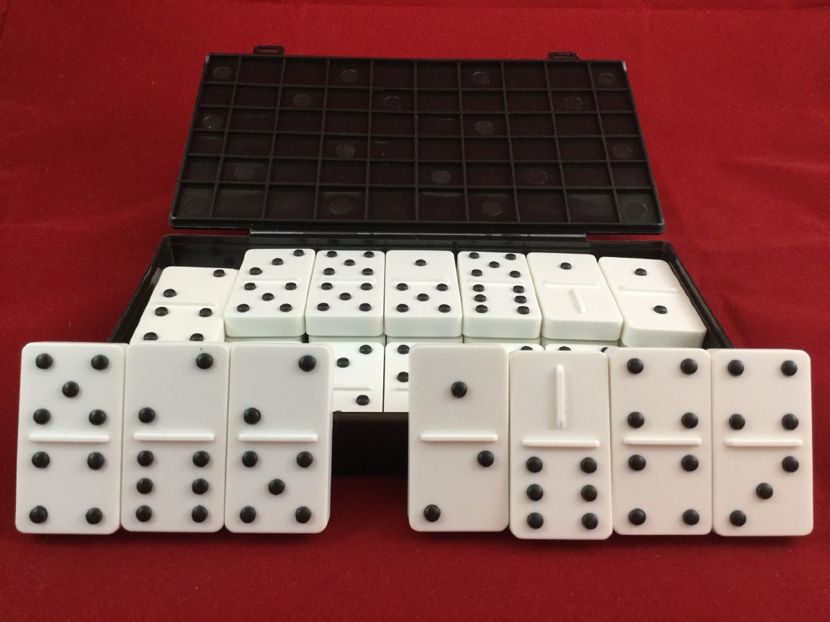 Picture picture of our Double-Six Dominoes, Plastic