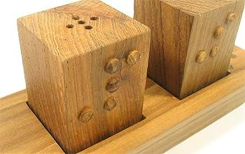 Different picture of our Braille Salt and Pepper Set