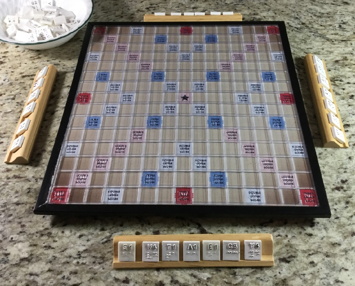 Larger picture of our Braille Scrabble