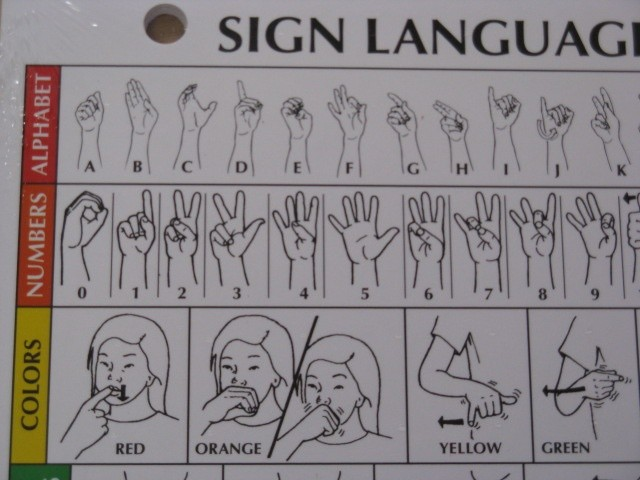 Different picture of our Sign Language Reference Cards, Twelve-Pack