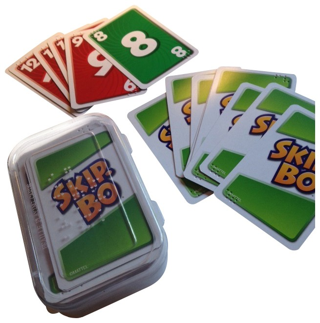Picture picture of our Braille Skip-Bo Cards