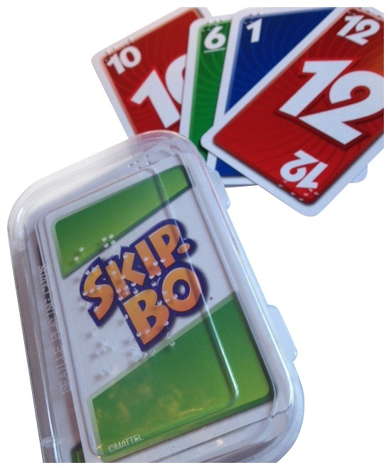 Different picture of our Braille Skip-Bo Cards