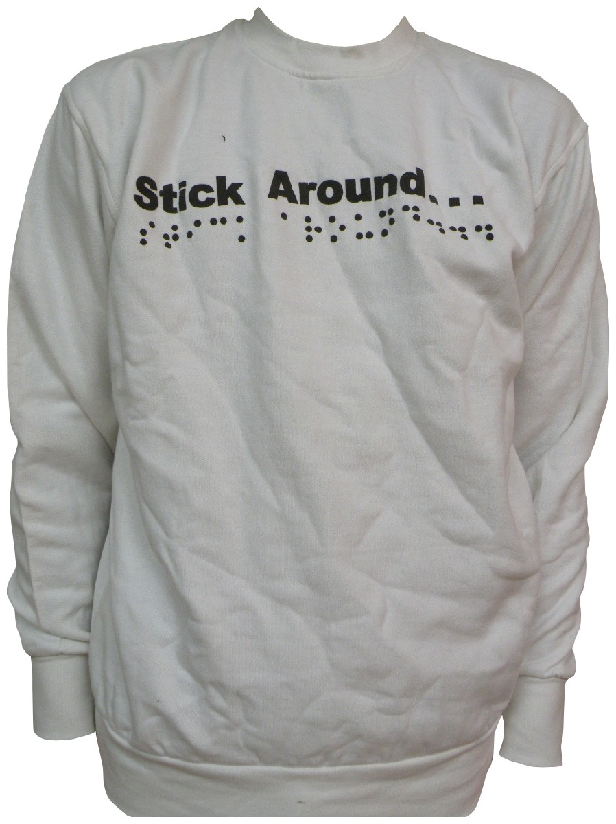 Picture picture of our Braille Sweatshirt, Adult
