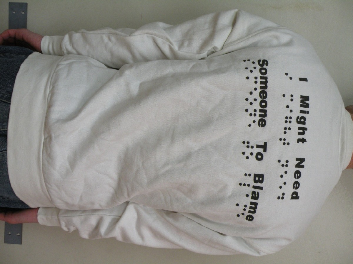 Different picture of our Braille Sweatshirt, Adult