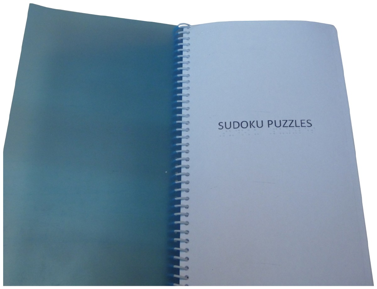 Picture picture of our Braille Sudoku Puzzles