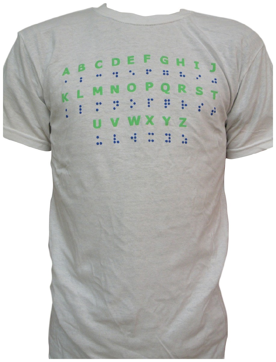 Picture picture of our Braille Alphabet T-Shirt, Adult